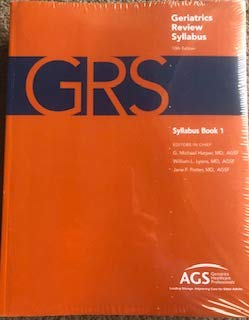 Compare Textbook Prices for Geriatrics Review Syllabus, 3 Vol Set 10 Edition ISBN 9781886775589 by Harper, G. Michael, Ed.