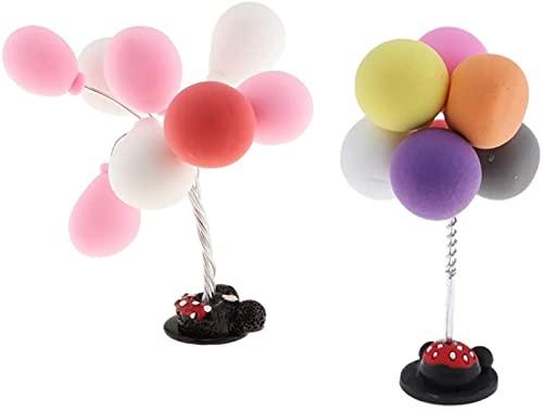 2 unidades do painel do interior do carro e ornamento decorativo bonito do balão da personalidade criativa