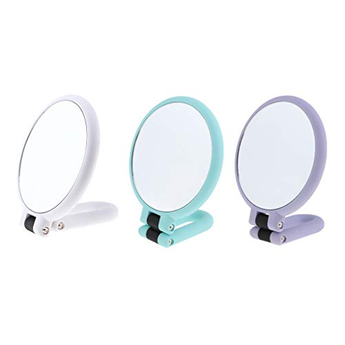SM SunniMix 3pcs Pliant Le Miroir De Voyage Compact De Bureau De Maquillage De Miroir Normal / 15X
