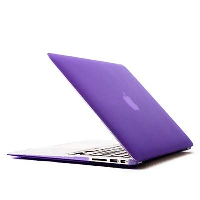 Hanks' shop Protective Case Laptop Crystal Protective Cover Shell For Macbook Air 11.6 Inch (Color : Purple)