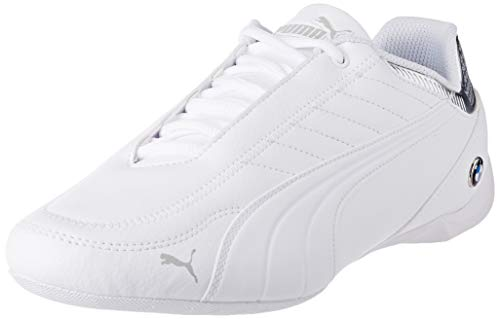PUMA BMW MMS Future Kart Cat, Zapatillas Unisex Adulto, Blanco White Silver, 45 EU