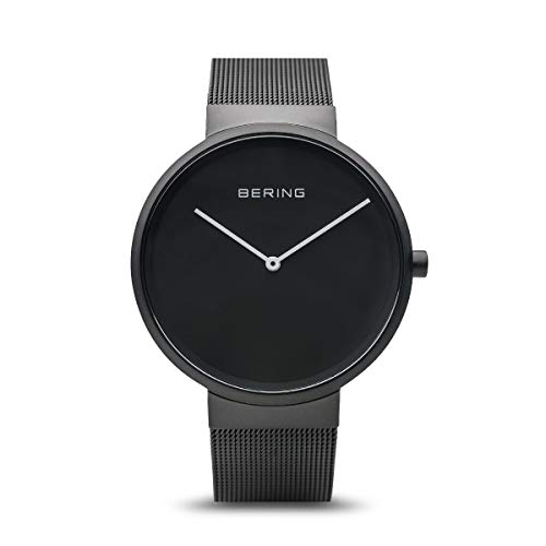 BERING Unisex Erwachsene Analog Quarz Uhr mit Edelstahl Armband 14539-122