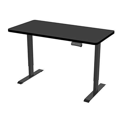 Flexispot ED2 Elektrisch Höhenverstellbarer Schreibtisch .Mit Memory-Steuerung und Softstart/-Stop. (Schwarz)