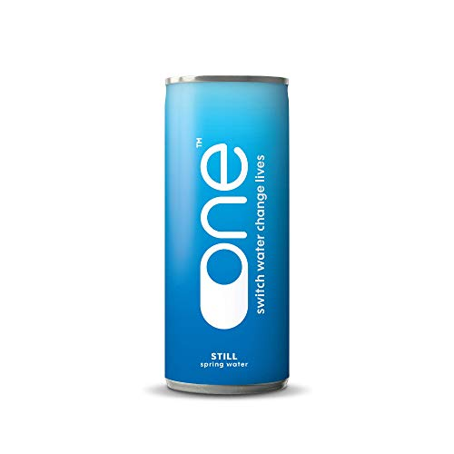 One Water | Natural Canned Still Spring Water in Sustainable and Recyclable Can | 24 x 330ml