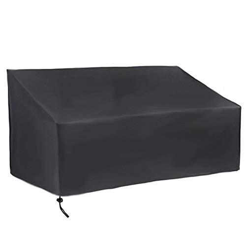 XQK Mobilier de Jardin Couvre Tissu imperméable imperméable Coupe-Vent résistant Tissu Oxford Housse de Banc extérieur pour Jardin, terrasse (3 sièges 163x66x89cm)