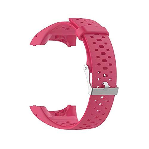 LXF JIAJU Hero Iand for Polar M430 Reloj Correa Strap Soft Silicone Reemplazo De La Correa De Muñeca para Polar M400 Reloj De Reloj con Herramienta (Color : Rose Red)
