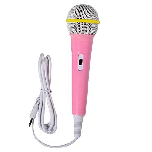 Gjyia Bedrade microfoon voor kinderen, speelgoed, muziekinstrument, zingen, karaoke, voor leermachine, computer, auto, hifi-uitrusting