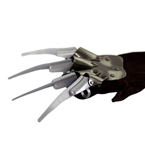Oblique Unique® Freddy Krüger Handschuh mit Krallen Klauen für Halloween Fasching Karneval Cosplay Motto Party Wolverine Kostüm Accessoire Einheitsgröße Damen Herren