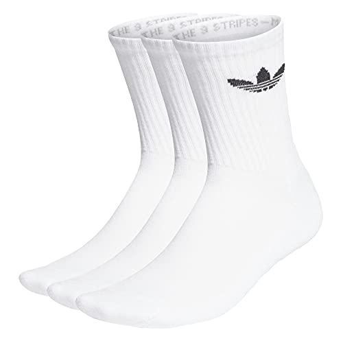 adidas Cushioned Trefoil Mid Cut Crew - Calcetines (3 unidades) negro/blanco M