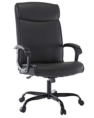 SMUGDESK Office Chair PU Leather Ergonomic Desk Chair Adjustable Task Chair High-Back Executive Swivel Chair Computer Chair with Armrests Headrest and...