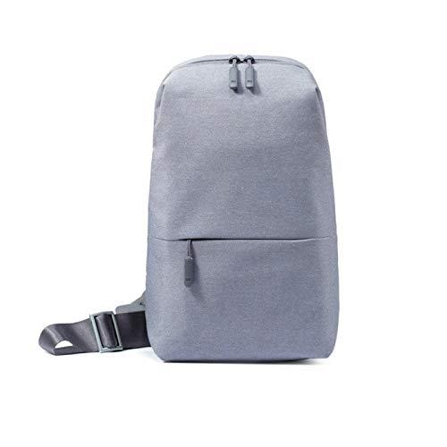 Original mochila urbana ocio pecho paquete bolsa para hombres mujeres tamaño pequeño hombro tipo mochila mochila mochilas, Gray (Gris) - berglink-KFDKYB-1
