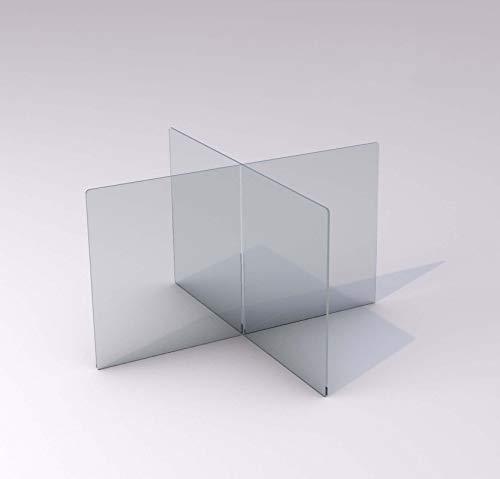 SneezeDefense Acrylic Plexiglass Sneeze Guard Barrier and Shield for Table Tops (Clear 1/4' Plexiglass)