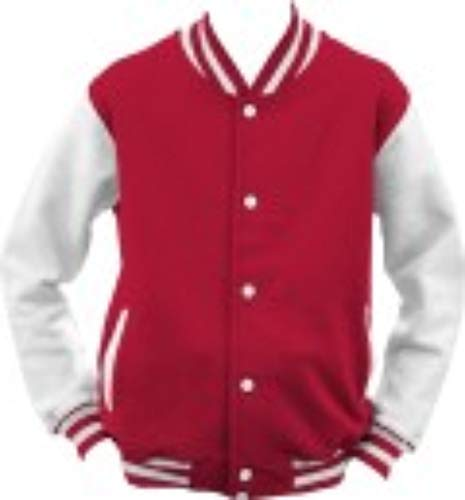 ShirtInstyle College Jacke Jacket Retro Style L,Rot