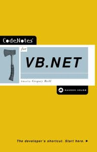CodeNotes for VB.NET (English Edition)