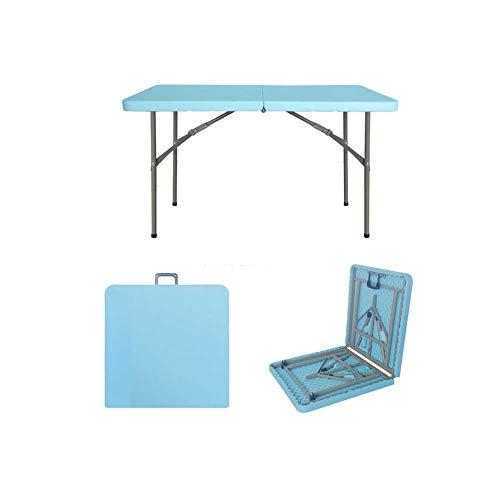 YANGFH Mesa Plegable Mesa de Comedor Hogar Estación de Trabajo al Aire Libre Puesto multifunción portátil Rectángulo Simple Escritorio de Aprendizaje Mesa Plegable (Color : Blue)