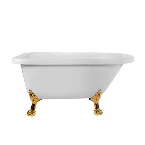 Vintage Tub & Bath Stratford 70 Inch Acrylic Classic Clawfoot Tub - Rim Faucet Drillings - Lion Paw Feet