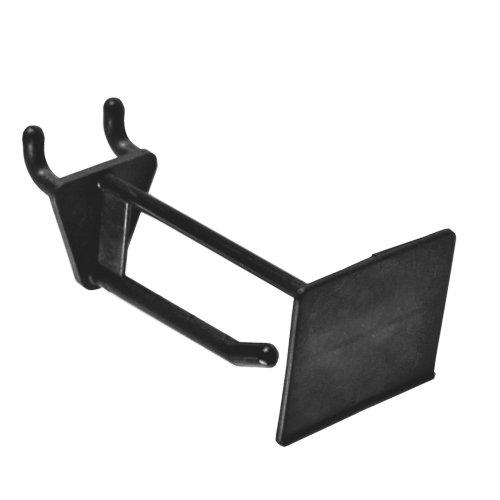 Azar 800012-BLK 2-Inch Glass Filled Nylon Pegboard Scan Hook, Black, 50-Pack