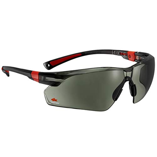 NoCry 506U Safety Sunglasses, Tinted, Black&Red