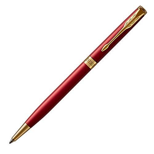 パーカー ボールペン スリム 油性 ソネット レッドGT 1950778 正規輸入品