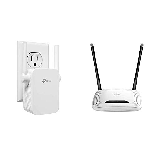 TP-Link | N300 WiFi Range Extender (TL-WA855RE) with TP-Link N300 Wireless Wi-Fi Router (TL-WR841N) Bundle