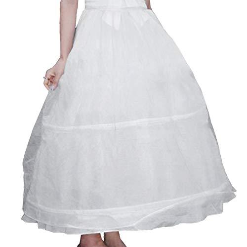 Ecloud Shop Enagua Vestido de dos aros para Boda, fiesta, comunión con Cancán