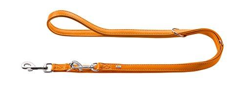 HUNTER Wallgau Verstellbare Führleine für Hunde, Leder,besonders weich, 2,0 x 200 cm, orange