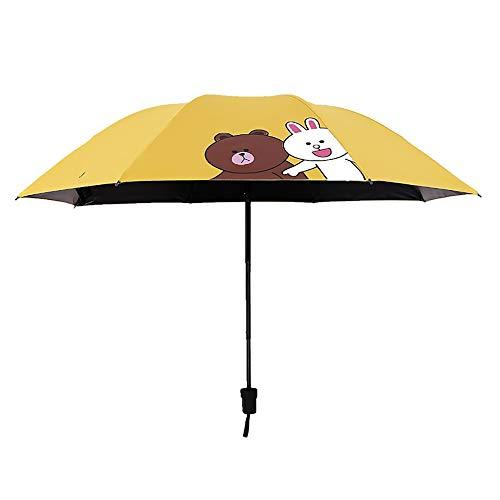 XBR Compacte paraplu's voor vrouwen Handtasmaat Reis Lichtgewicht 3-laags vouwparaplu ontworpen strijkijzers Legering Polyester Materiaal Waterdicht Zonwerend Winddicht