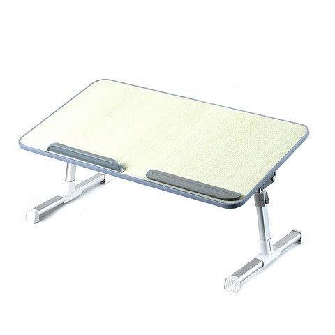 Escritorio del ordenador portátil plegable Mesa de ordenador portátil de la tabla ajustable del ordenador portátil de escritorio Rotar portátil cama puede ser levantadas de pie turística 52 * 30cm Mes