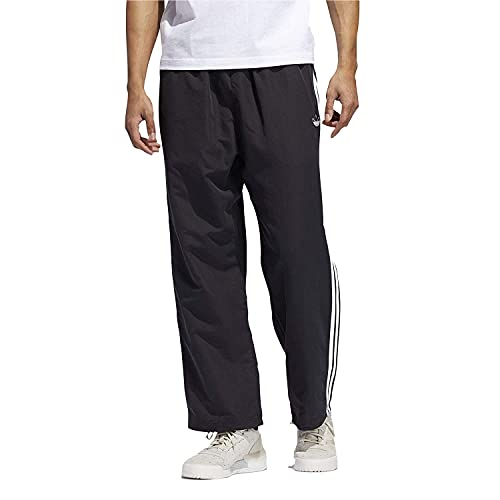 adidas Originals - Pantalones de corte rectos de 3 rayas para hombre (pequeño)