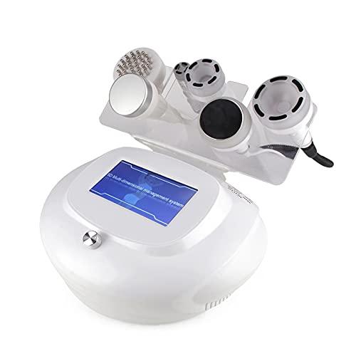 Soglen Radiofrecuencia Cavitación Producto de Belleza Anticelulítico Celulitis Masajeador Facial Levantamiento de Cuerpo Conformado Adelgazamiento Máquina Grasa Instrumento,Blanco