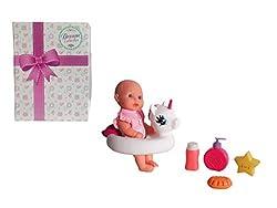 top 10 dolls for bathtub 12-inch Gi-Go bathtime doll with a unicorn swimming