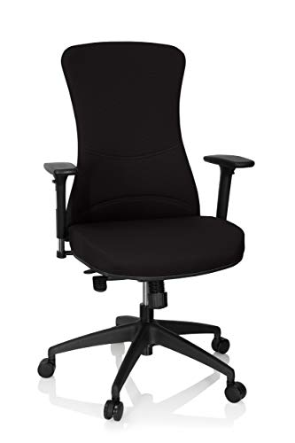 Preisvergleich Produktbild hjh OFFICE 760010 Profi Bürostuhl Office XT PRO Netzstoff Schwarz Drehstuhl gepolstert,  mit Armlehnen,  Sitztiefe verstellbar