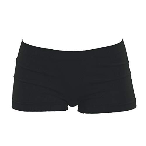 Toocool - Pantaloncini Bimba Bambina Culotte Shorts Intimo Fitness Sport LO-YQ7079 [12/14,Nero]