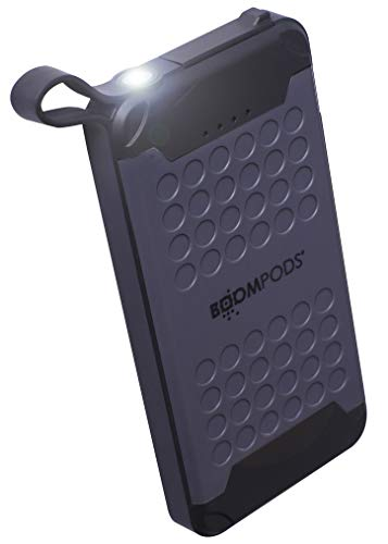 BOOMPODS POWERBOOMX 10000 Portable USB - Waterproof Fast Charging Power Bank Battery Phone Charger for iPhone, Android Samsung Galaxy & Note Cell Phones