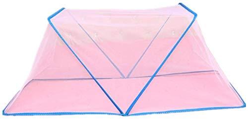 Babybed Klamboe, No-installatie Opvouwbare draagbare reizen Tent van het strand, met zonnescherm en Full Mesh beschermen tegen zon Muggen Bijen, Pink, 123 * 69 * 61 dmqpp