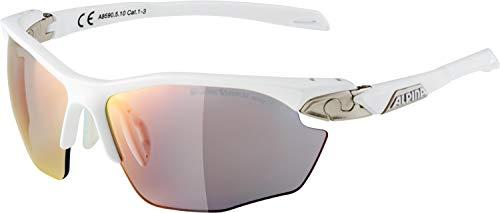 ALPINA Twist Five HR QVM Outdoorsport-Brille, White Matt-Silver, One Size
