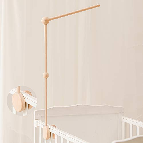 Baby Crib Mobile Arm - WoodenMobile Arm for Crib | 12-27 Inch | Crib Mobile Holder | Baby Mobile Crib Hanger | Nursery Decor (Mobile Crib Arm)