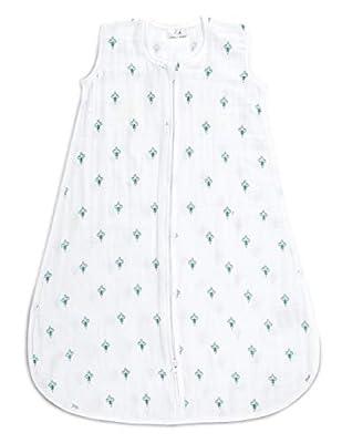 aden + anais Classic Sleeping Bag, Paisley - Teal - Paisley Drip, Large, 12-18M