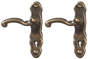 Melody Jane Dollhouse Lever Door Handles Antique Brass Miniature Door Knobs