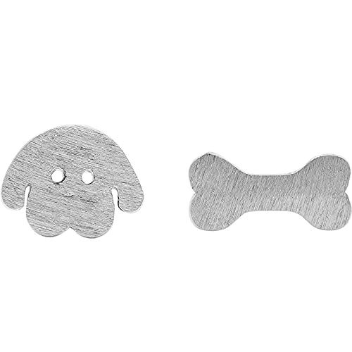 YANXIA Pendientes de Clip para Niñas para Niños Pendientes de Botón de Animales de Dibujos Animados Lindos para Regalo de Pendiente de Mujer