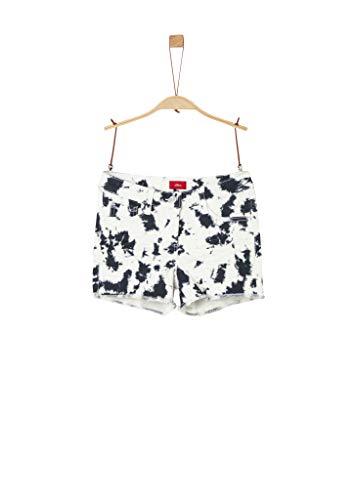 s.Oliver Mädchen Slim Fit: Shorts mit Batik-Effekt Dark Blue AOP 152.Big
