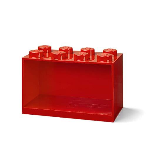 Room Copenhagen Estantería de Bloques Lego 8 Elementos, Rojo, Roja, 8 ladrillo