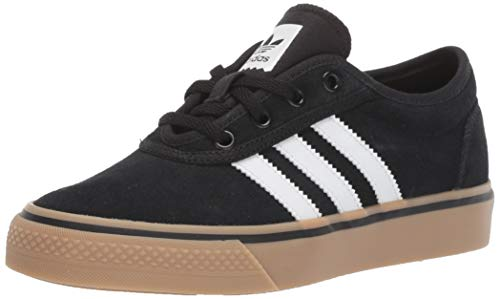 adidas Originals Men's Adiease Sneaker, Black/White/Gum, 13 M US