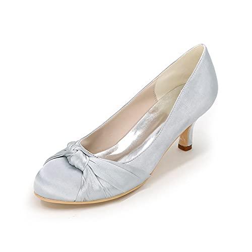 Zapatos De Boda con Punta Cerrada Y Tacones De Gatito para Mujer...