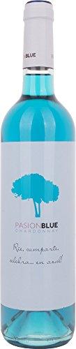 Pasion Blue - Vino blanco Chardonnay, 750 ml, 1 unidad
