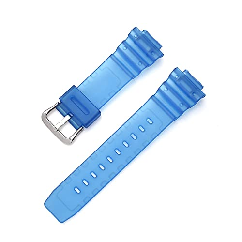 ZXF Correas Reloj Silicona, Sports Buceo Reloj Correa Color Resina PU Correa de Reloj de Reloj Hombre y Mujer (Color : Light Blue, Size : 16mm)