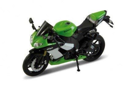 Welly Kawasaki Ninja ZX-10R en Verde 1:18 Escala