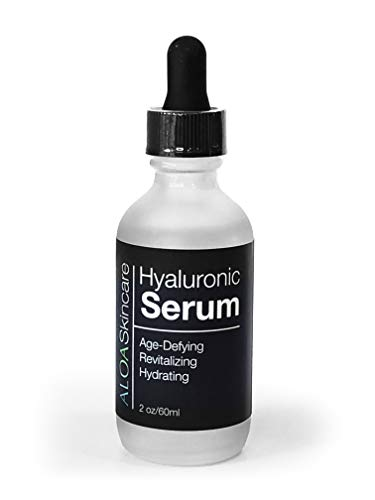ALOA Skincare Hyaluronic Acid Serum, 100% Vegan Hyaluronic Acid, Intense Hydration for Face and Eyes, Plumps Skin, Reduces the Appearance of Fine Lines & Wrinkles