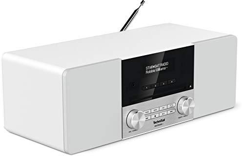 TechniSat DIGITRADIO 3 - Stereo DAB Radio Kompaktanlage (DAB+, UKW, CD-Player, Bluetooth, USB, Kopfhöreranschluss, AUX-Eingang, Radiowecker, OLED Display, 20 Watt RMS) weiß