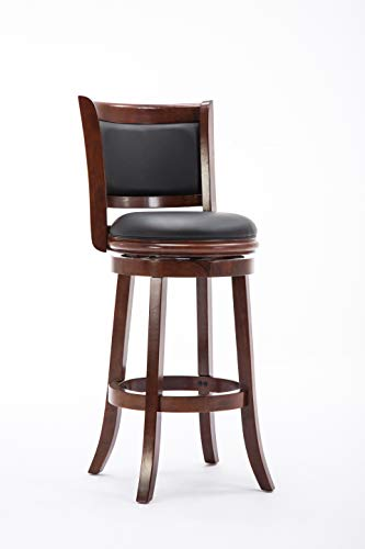 wood bar stools swivel - 2